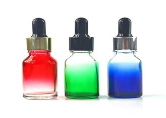 Gradient Color Glass Dropper Bottles Non Toxic OEM Service With Childproof Cap